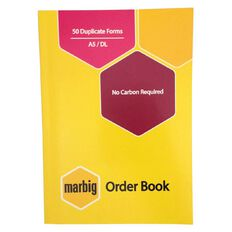 Marbig Order Book Duplicate 50 Leaf Yellow A5