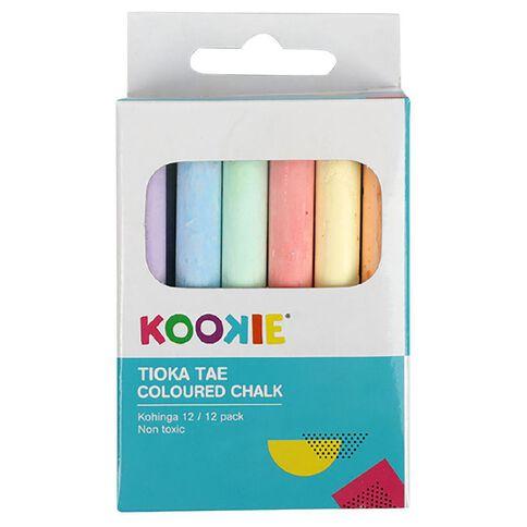 Kookie Coloured Chalk 12 Pack