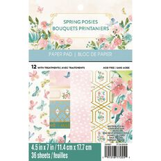 Recollections Paper Pad Spring Posies 4.5in x 7in