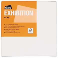 DAS 1.5 Exhibition Canvas 6 x 6in White