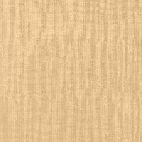 American Crafts Cardstock Textured Latte 12in x 12in