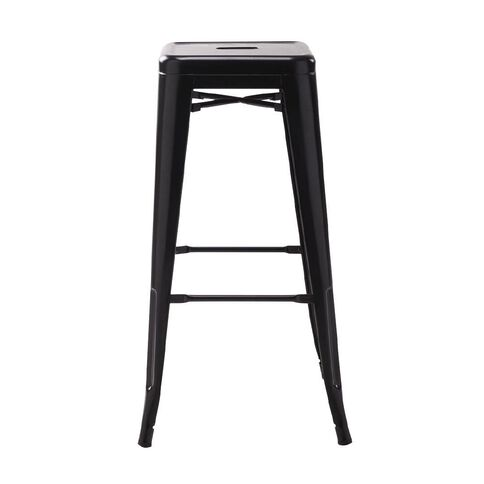 Workspace Metal Stool 76cm Matte Black