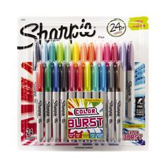 Sharpie Fine Colour Burst 24 Pack Mixed Assortment