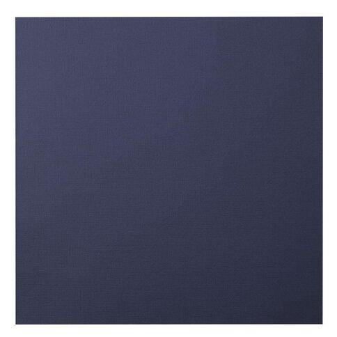 American Crafts Cardstock Textured Denim Blue 12in x 12in