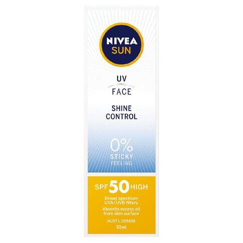 Nivea Sun Face UV Shine Control SPF50+ 50ml
