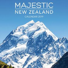 BrownTrout Calendar 2019 Majestic New Zealand Square