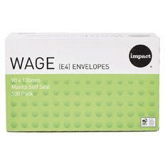 Impact Envelope E4 Wage Self Seal 500 Pack Manilla