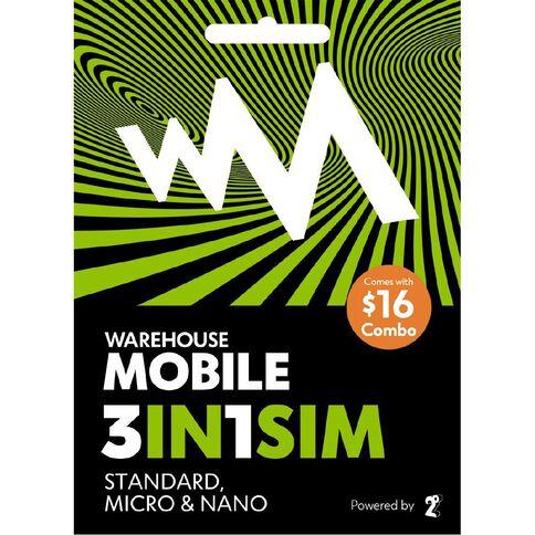 Warehouse Mobile $16 Combo SIM