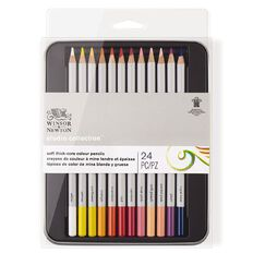 Winsor & Newton Studio Coloured Pencil Tin 24