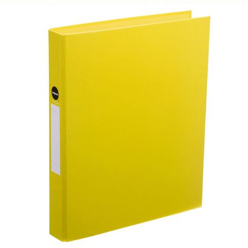 Impact Ringbinder 2D 25mm Yellow A4