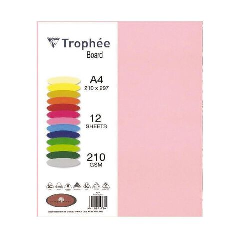 Trophee Board 210gsm 12 Pack Pink A4