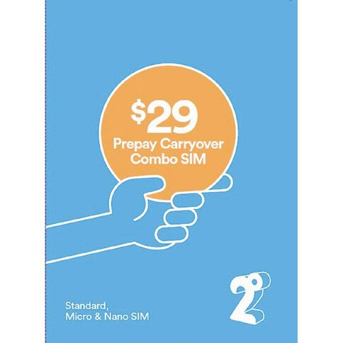 2degrees $29 Carryover Combo SIM