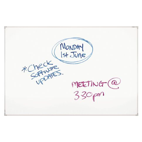 Boyd Visuals Lacquered Steel Whiteboard 1200 x 1800mm White