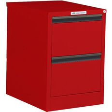 Precision Classic Filing Cabinet 2 Drawer Flame Red