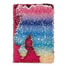 Kookie Rainbow Reversible Sequin Notebook A5