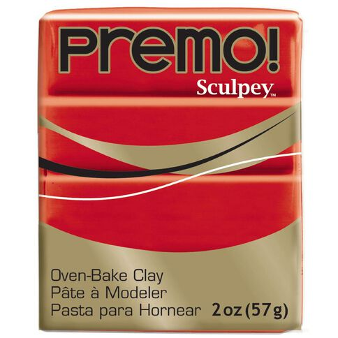 Sculpey Premo Accent Clay 57g Cadmium Hue Red