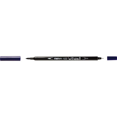 MARVY Le Plume II Dual Tip Marker Prussian Blue