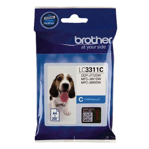 Brother Ink LC3311C Cyan (200 Pages)