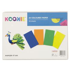 Kookie Construction Pad 36 Sheets Multi-Coloured A4