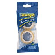 Sellotape Cellulose Tape 15mm x 10m 2 Pack Clear