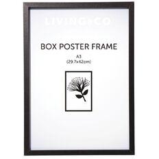 Living & Co Box Poster Frame Black A3
