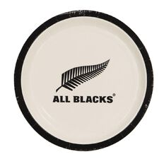 All Blacks Paper Plates 23cm 8 Pack