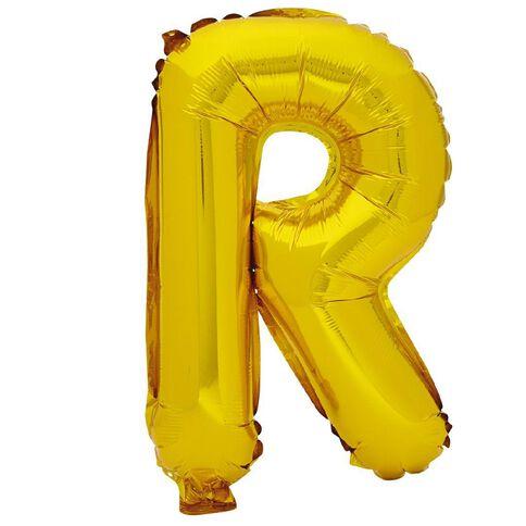 Artwrap Foil Balloon R Gold 35cm