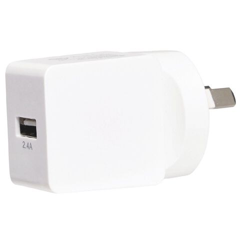 Tech.Inc USB Wall Charger 2.4A White