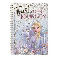 Frozen 2 Notebook with Plastic Cover & Sparkles A4