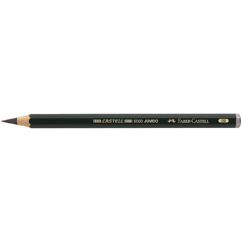 Faber-Castell Drawing Pencil 9000 Jumbo 2B Black
