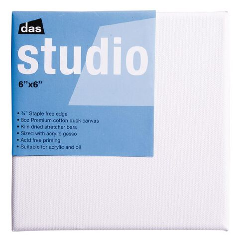 DAS Studio Canvas 6 x 6 White