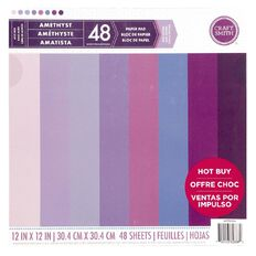 Craft Smith Paper Pad Amethyst 12in x 12in