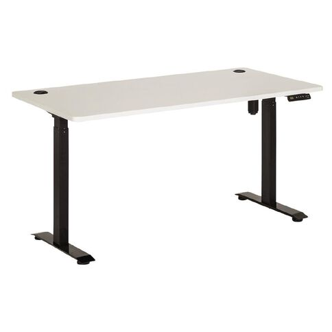 Jasper J Emerge Electric H-ADJ Desk Single Motor 2 Stage 1800 Blk/White