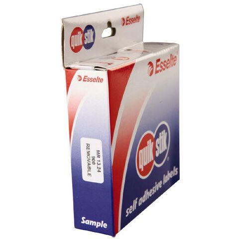 Quik Stik Labels Mr1324 13mm x 24mm 900 Pack White