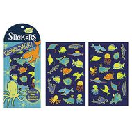 Peaceable Kingdom Stickers Glow In The Dark Sea Creatures