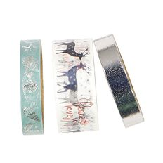Uniti Summer Yule Washi Tape Silver 3 Pack