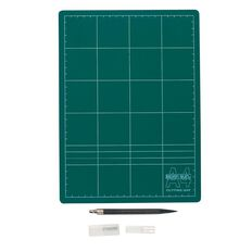 Topfirm Cutting Mat 300 x 220 x3mm A4 & Knife Set