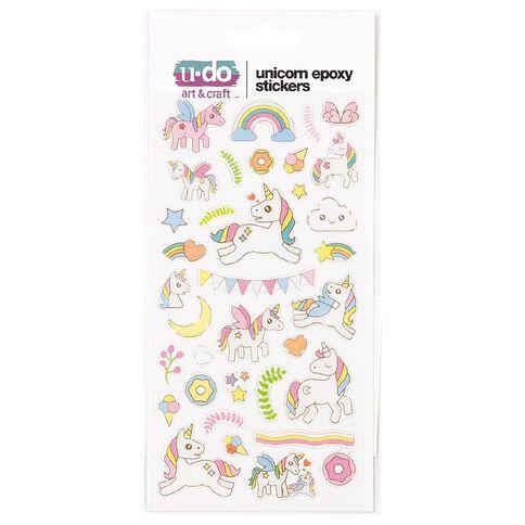 U-Do Unicorn Epoxy Stickers Assorted