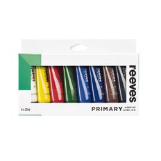 Reeves Acrylic Primary 22ml Set 8 pack
