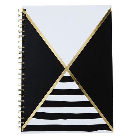 Uniti Black&Gold Spiral Notebook A4
