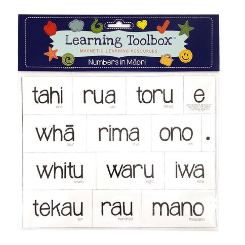 Learning Tool Box Magnetic NZ Maori Numbers Assorted