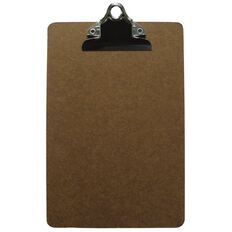 Office Supply Co Hardboard Clipboard Brown A5