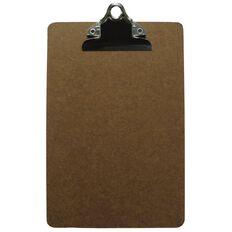 Office Supply Co Hardboard Clipboard Brown A5