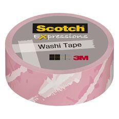 Scotch Washi Craft Tape 15mm x 10m Pink Watercolor