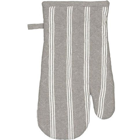 Living & Co Single Oven Glove Country Stripe Charcoal