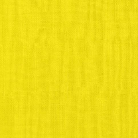American Crafts Cardstock Textured 12 x 12 Lemon Yellow