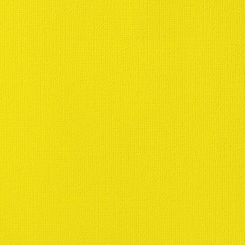 American Crafts Cardstock Textured 12 x 12 Lemon Yellow