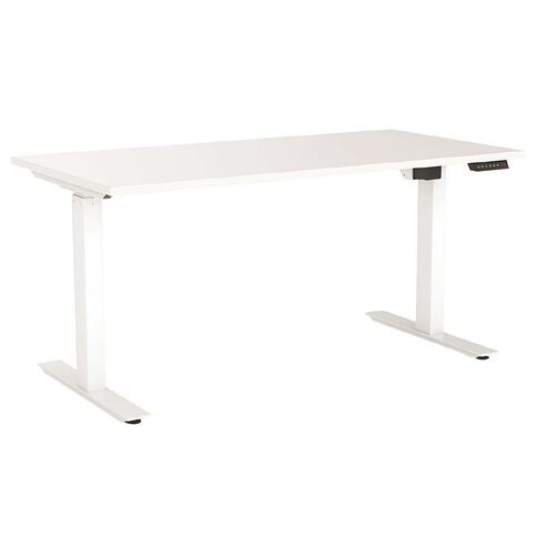 Agile Height Adjustable Electric Desk 1800 White/White