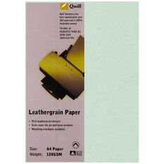 Quill Leathergrain 100gsm 25 Pack Ice A4