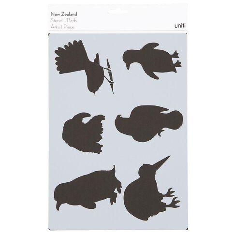 Uniti New Zealand Stencil A4 Birds